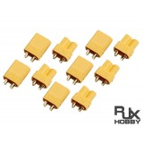RJX XT30 Connector Male and Female x5 pairs