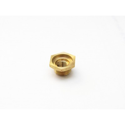 10mm to 1/4-32mm spark plug bushing adapter (Copper)