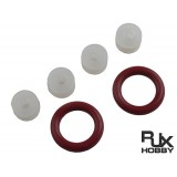 O-Ring and Silicon Grommets Sets (4pcS white+ 2pcs red)