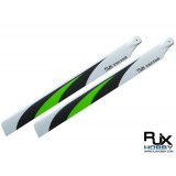 RJX Vector Green 600mm Premium CF Blades-FBL Version