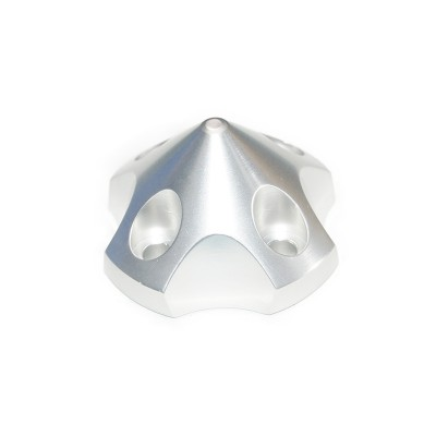 CNC Aluminum Alloy Silver 3D Spinner For DLE55 / TGY56