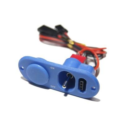 Single Heavy Duty Switch & Fuel Dot - Blue
