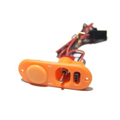 Single Heavy Duty Switch & Fuel Dot - Orange
