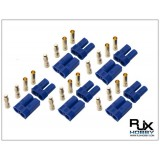 EC5 Connector-Male and Female x 5pairs blue