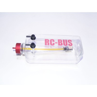 RC-BUS 16oz / 500cc / 500ml Clear Two-Line Gas Tank