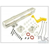 RJX 91 Muffler for all 90 /700 size nitro Helis   NEW version