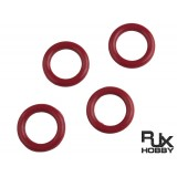 Fluorine O-Ring for RJX90 Muffler and harori 90( 4 pcs red)