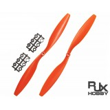 RJX ABS 1245 Blades Quadcopter CW&CCW (Orange)
